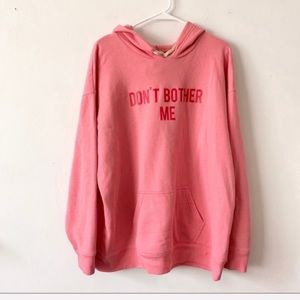 Don't Bother Me Pullover Hoodie Size XL